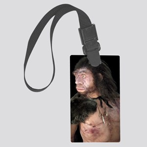 Neanderthal man Large Luggage Tag