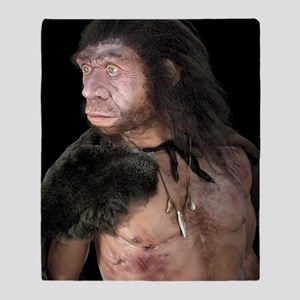 Neanderthal man Throw Blanket