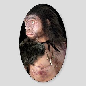 Neanderthal man Sticker (Oval)
