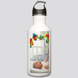 Baby boy in his cot Stainless Water Bottle 1.0L