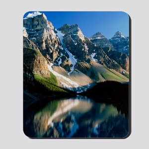 Mountains reflected in Moraine Lake, Can Mousepad