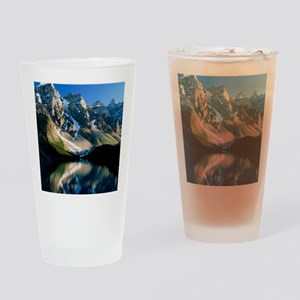 Mountains reflected in Moraine Lake Drinking Glass