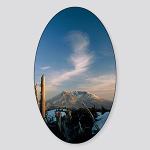 Mount St Helens volcano Sticker (Oval)