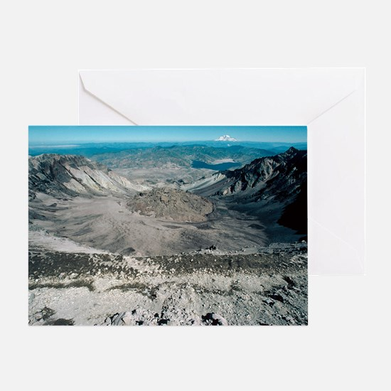 Mount St Helens volcanic crater Greeting Card