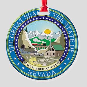 Nevada Round Ornament