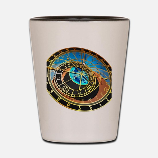 Astronomical clock, artwork Shot Glass