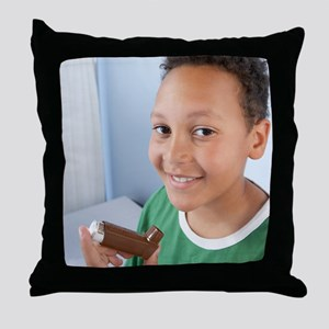 Asthma inhaler Throw Pillow