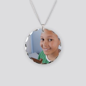 Asthma inhaler Necklace Circle Charm