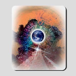 Aztec Sun Stone, artwork Mousepad