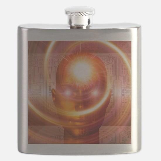 Artificial intelligence, artwork Flask