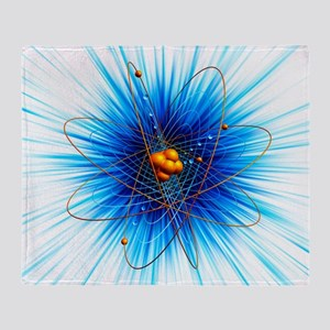Atomic structure, artwork Throw Blanket