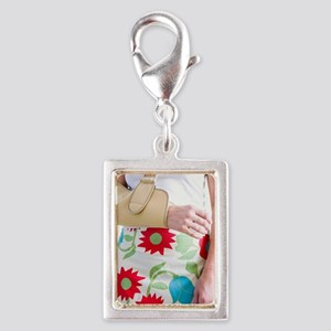 Arm in a sling Silver Portrait Charm