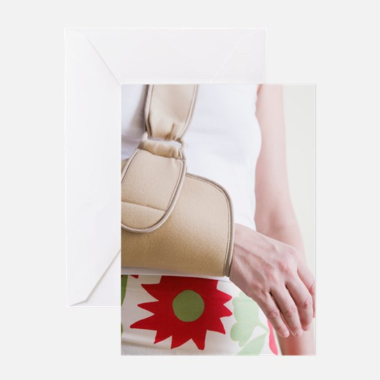 Arm in a sling Greeting Card