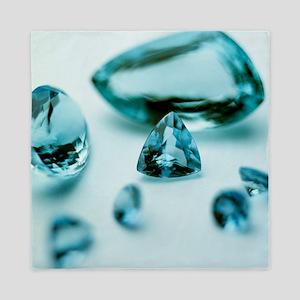 Aquamarine gems Queen Duvet