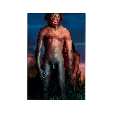 Models of Homo erectus men Rectangle Magnet