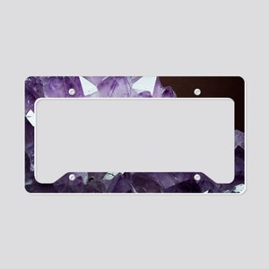 Amethyst crystals License Plate Holder