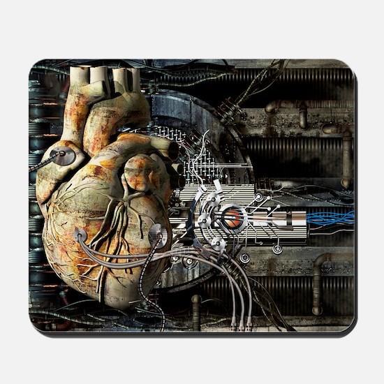 Artificial heart, conceptual artwork Mousepad