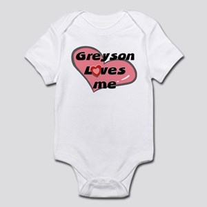 greyson loves me  Infant Bodysuit