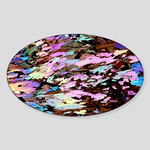 Mica, light micrograph Sticker (Oval)