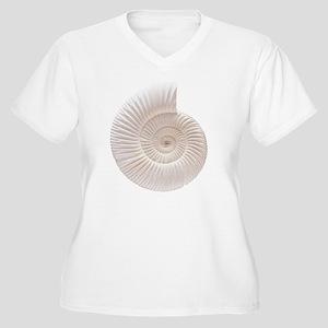 Ammonite Women's Plus Size V-Neck T-Shirt