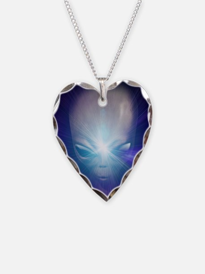 Alien, artwork Necklace Heart Charm