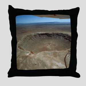 Meteor crater Throw Pillow