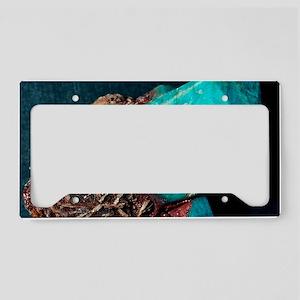 Microcline mineral License Plate Holder