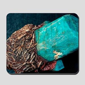 Microcline mineral Mousepad
