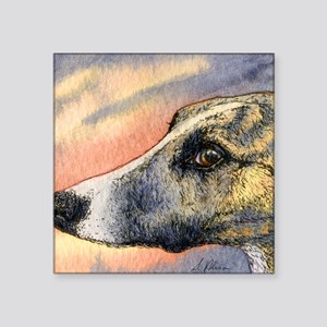 "Brindle whippet greyhound d Square Sticker 3"" x 3"""