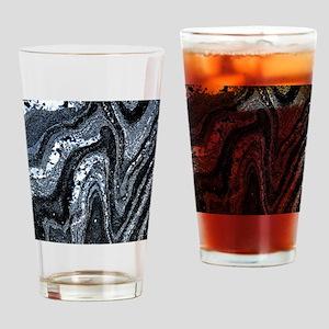 Microfolds in graphite schist Drinking Glass