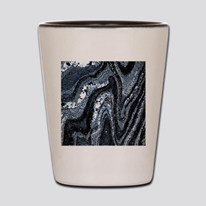 Microfolds in graphite schist Shot Glass
