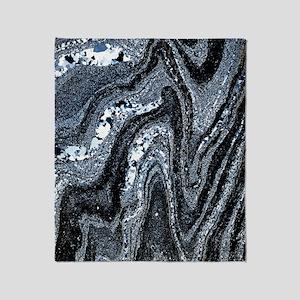 Microfolds in graphite schist Throw Blanket