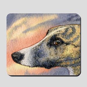 Brindle whippet greyhound dog Mousepad