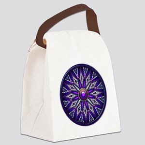 Native American Rosette 010 Canvas Lunch Bag
