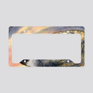 Brindle whippet greyhound dog License Plate Holder