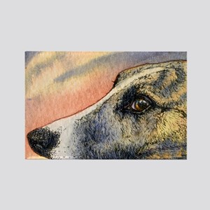 Brindle whippet greyhound dog Rectangle Magnet