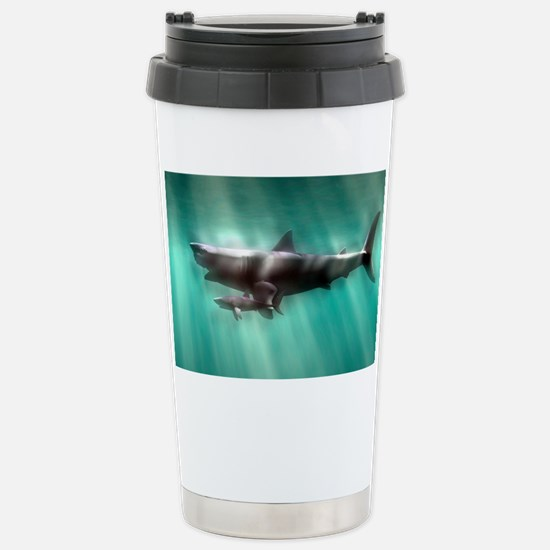 Megalodon shark and great white Stainless Steel Tr