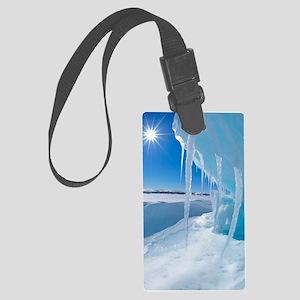 Melting Arctic ice, Canada Large Luggage Tag