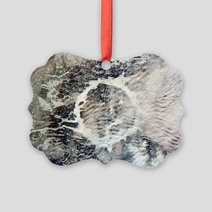 Manicouagan reservoir Picture Ornament