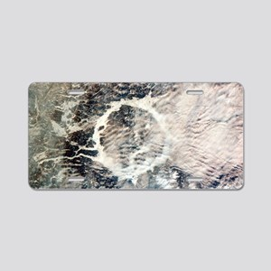 Manicouagan reservoir Aluminum License Plate