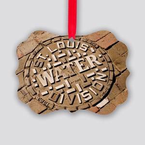 Manhole cover in St Louis Picture Ornament