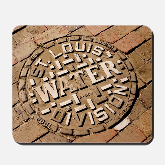 Manhole cover in St Louis Mousepad