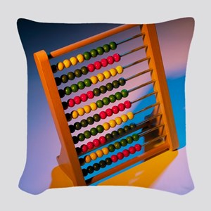 Abacus Woven Throw Pillow