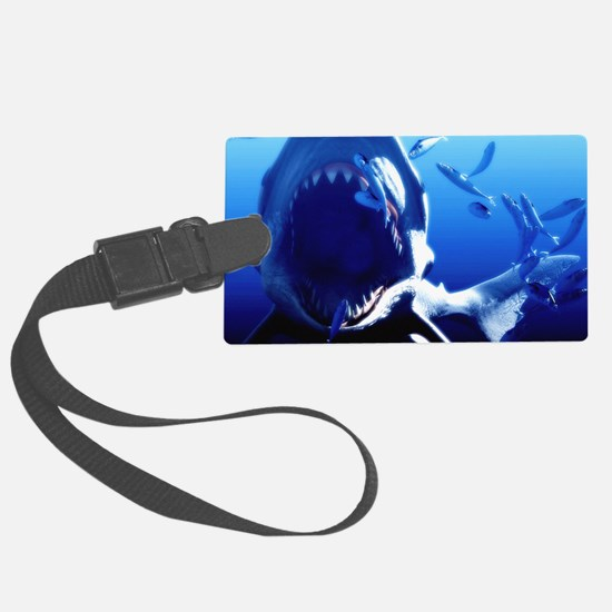 Megalodon prehistoric shark Luggage Tag