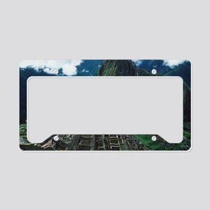 Machu Picchu License Plate Holder