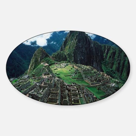 Machu Picchu Sticker (Oval)