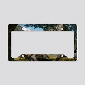 Mammoths and sabre-tooth cats License Plate Holder