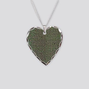 Manchester, UK, aerial image Necklace Heart Charm