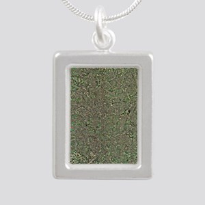 Manchester, UK, aerial i Silver Portrait Necklace