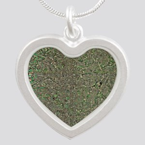 Manchester, UK, aerial image Silver Heart Necklace